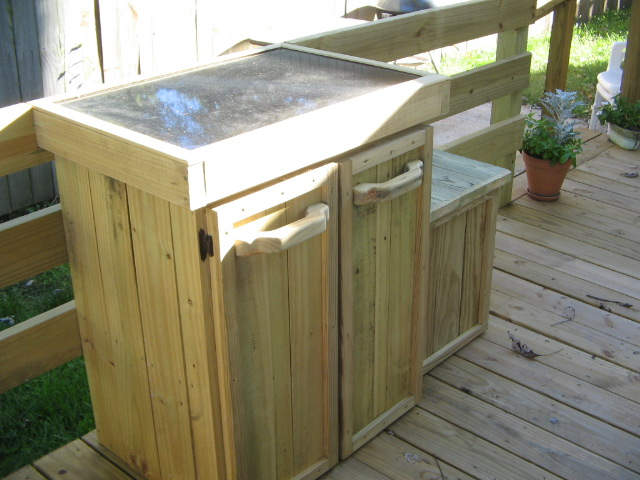 Deck cabinetry