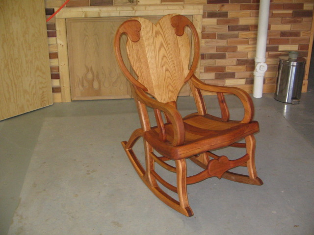 Early 1900's cained cherry rocker after