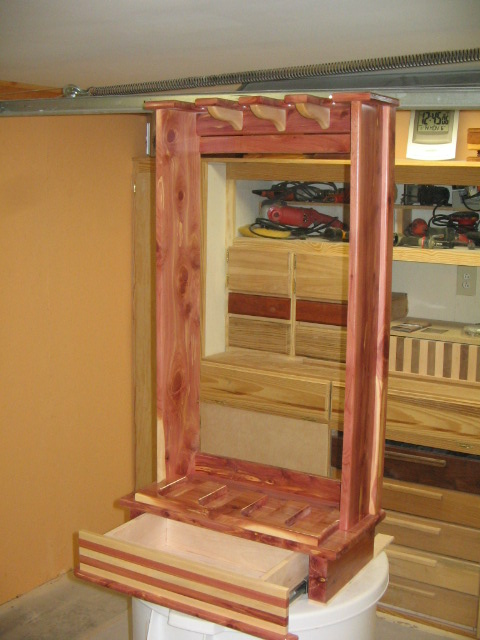Red Cedar Rifle Rack