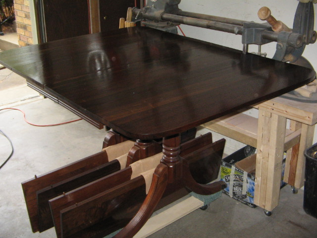 Refinished 1930's Walnut drop leaf